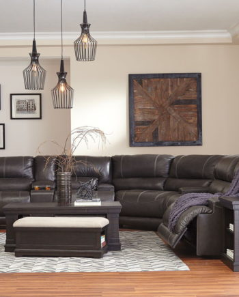 Leather Reclining Power Sectionals