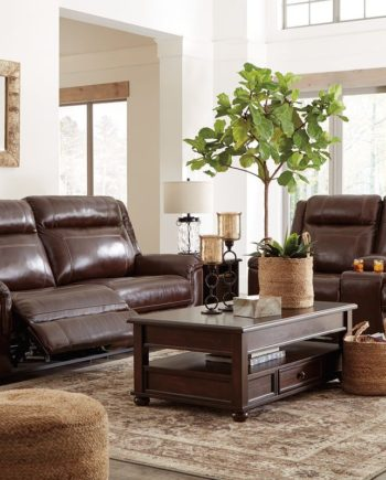 Leather Reclining Living Room Groups