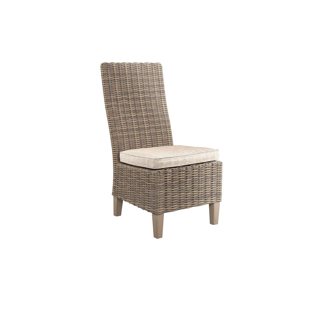Beachcroft - Beige - Side Chair with Cushion (2/CN) - EZ ... on Beachcroft Beige Outdoor Living Room Set id=73194